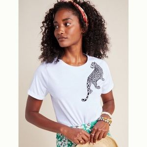 Anthropologie Laetitia Rouget Leopard Tee Size 4